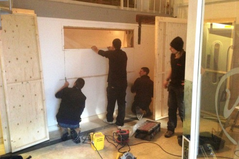 Incredible New London Recording Studio Build Day 1 Omuk Largest Home Design Picture Inspirations Pitcheantrous